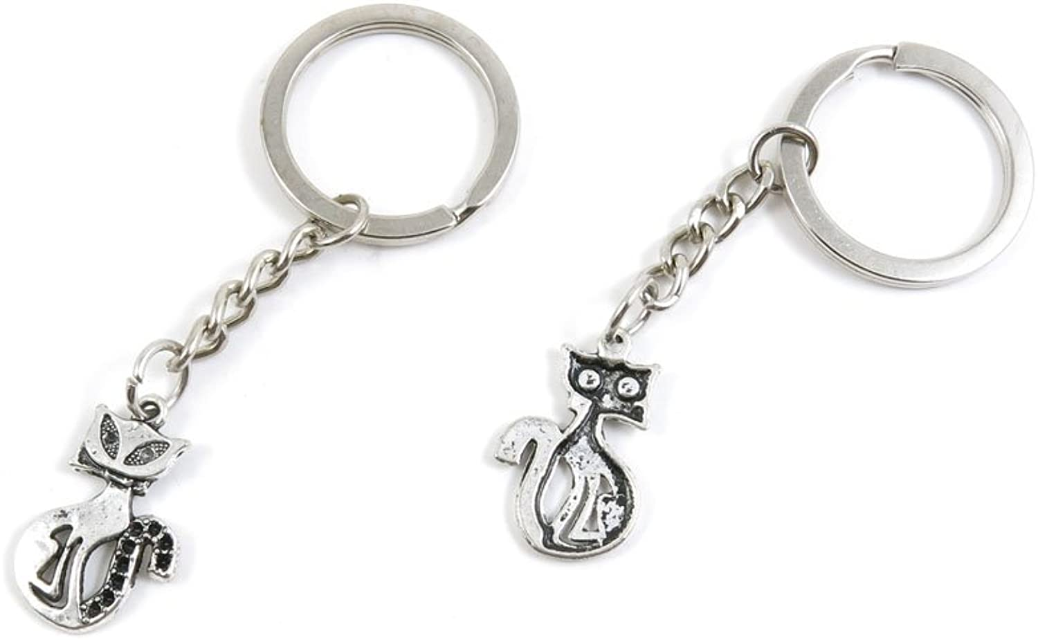 220 Pieces Fashion Jewelry Keyring Keychain Door Car Key Tag Ring Chain Supplier Supply Wholesale Bulk Lots I1VL1 Kitten Cat