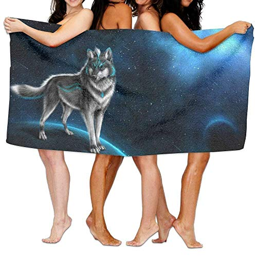 Gebrb Prämie Duschtücher/Badetücher,Strandtücher Bath Towels, Wolf Fantasy Art Super Soft Ultra Absorbent Bath Towel for Men Women Kids, Bathroom Accessories