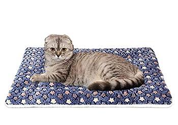 Lanivic Chien Chat Couvertures Animal de Compagnie Duveteux Toison Tapis Doux Coussin Tampon pour Puppy Kitten Motif étoile XL