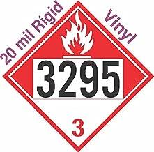 GC Labels-R315c3295, Combustible Class 3 UN3295 20mil Rigid Vinyl DOT Placard, each Placard