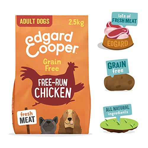 Edgard & Cooper pienso para Perros Adultos sin Cereales, Natural con Pollo Fresco de Granja, 2.5kg. Alimentación equilibrada sin harinas de Carne ni Carnes sobreprocesadas cocinada a Baja Temperatura
