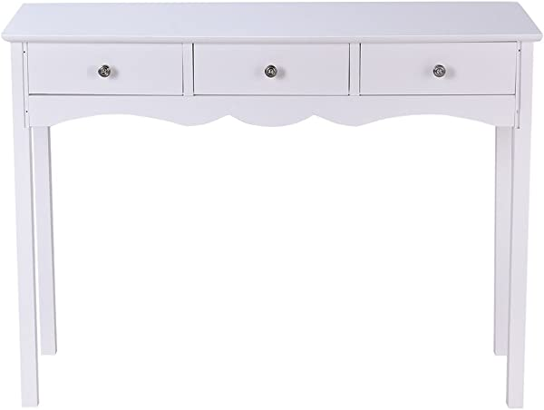 Heaven Tvcz Vanity Table Dressing White Table Hall Table Side Table W 3 Drawers