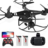 WHWYY FPV RC Drone with 1080P HD WiFi Camera Live Feed 2.4GHz Quadcopter for Beginners !