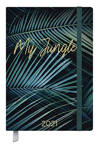 Kalenderbuch Campus My Jungle - Kalender 2021 - Oktober 2020 bis März 2022 - Korsch-Verlag - 18-Monats-Kalender - Taschenkalender A5 mit Lesebändchen und Verschlußgummi - 12,8 cm x 19 cm