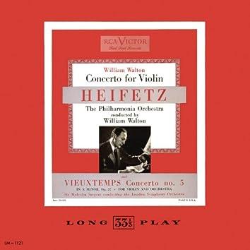 William Walton: Concerto for Violin in B Minor; Vieuxtemmps: Violin Concerto No. 5, Op. 37 in A Minor