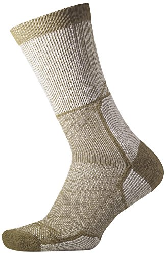 Thorlos Unisex OEXU Outdoor Explorer Thick Padded Crew Sock, CAMP KHAKI, Medium