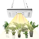 FECiDA 50W LED Grow Light for Indoor Plants, 250W CFL, HPS Grow Lights Equivalent, Waterproof and Silent Plant Grow Light, Professional Sunlike Full Spectrum Grow Lamp for All Growth Stages