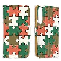 FFANY Xperia 1 Ⅱ (SO-51A・SOG01) 対応 スマホケース 手帳型 ミラータイプ パズル柄・ベーシック おもしろ ゲーム パロディ SONY ソニー エクスペリア ワン マークツー 5G対応 docomo au スタンド スマホカバー 携帯カバー puzzle aao_190732m