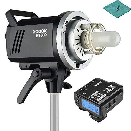 Godox MS300 Studio Flash Strobe Monolight 300Ws Max. Power Built-in Godox 2.4G Wireless X System GN58 5600K + X2T-N i-TTL Wireless Flash Trigger for Nikon DSLR Camera