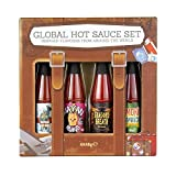 Modern Gourmet Foods, World Traveler Hot Sauce, Set of 4 Unique Chilli Sauces, 48 Grams Each