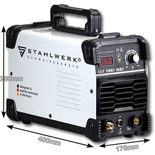 STAHLWERK CUT 50 ST IGBT Plasmaschneider mit 50 Ampere, bis 14mm Schneidleistung, für Lackierte Bleche & Flugrost geeignet, 7 Jahre Herstellergarantie - 6