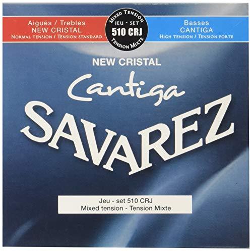 Savarez 510 CRJ Cordes pour Guitare classique, New Cristal Cantiga 510CRJ tension mixte...
