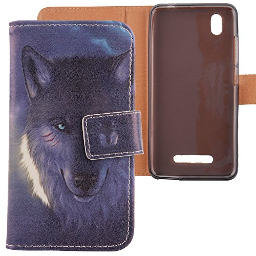 Lankashi PU Flip Leder Tasche Hülle Case Cover Schutz Handy Etui Skin Für ZTE Blade A452 5