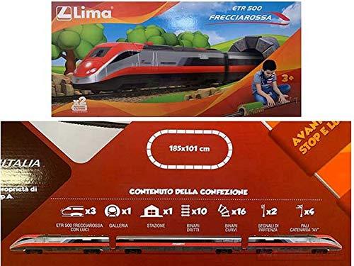 NEW Lima HL1403 Treno FRECCIAROSSA A Batteria Scala Ho 1:87 MODELLINO Die Cast Model