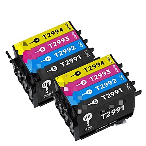 BIVJX Cartucho de Tinta Cartucho de Tinta para EPSON XP 235 245 332 335 432 432 435 435 442 345 255 257 352 355 452 455 Cartuchos de la Impresora T29 No es fácil de desvanecer (Color : 2 Set)
