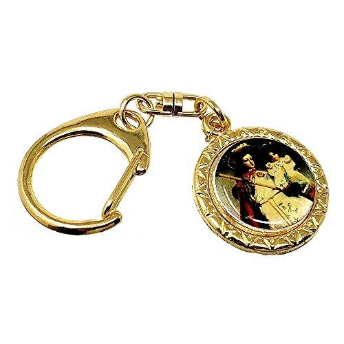 Key Gold Metall 29mm. Santa Barbara Zaun Schmiede [AB5556]