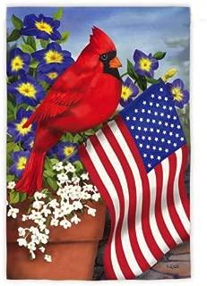 Evergreen Flag Cardinal Suede Applique Garden Flag - 12.5 x 18 Inches Outdoor Decor for Homes and Gardens