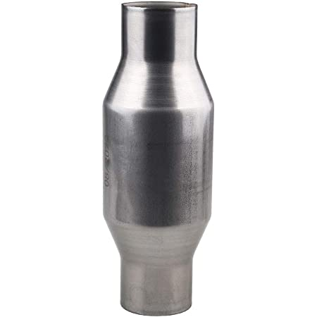 """2.5/"""" Catalytic Converter High Flow Metallic-Core Stainless Steel 100 Cell"""
