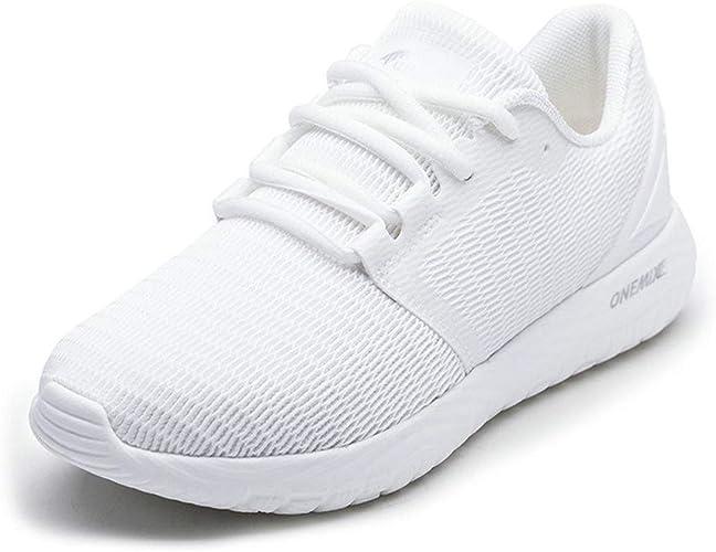 ONEMIX Libre Spirit Chaussures légères et Confortables pour Femme - Blanc - Blanc, 36.5 EU