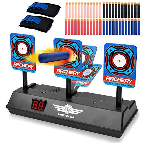 Electronic Target for Nerf Gun, Digital Moving Scoring Auto Reset Target Set for Shooting Practice, Suitable for Elite/Rival/Pistol/Modulus/Mega Series Shooting Games, Gifts for Kids Boys Girls Teens