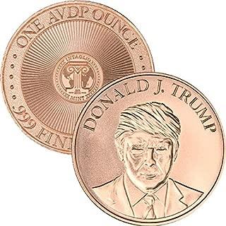 Jig Pro Shop Intaglio Mint Donald J. Trump 1 oz .999 Pure Copper BU Round/Challenge Coins