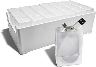 جعبه ذخیره ZEYDURL جعبه نگهدارنده میز نگهدارنده شارژر جعبه ذخیره سازی ، 7 ظرف ذخیره سازی سیم داخلی با برچسب کشوی میز ، سیم ، هدست ، شارژر ، کابل داده و لوازم جانبی