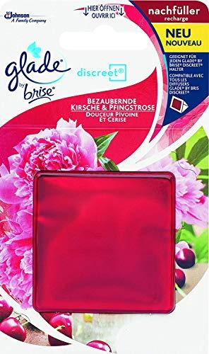 Glade (Brise) Discreet Nachfüller, ideal für kleine Räume, Luscious Cherry & Peony (Bezaubernde Kirsche & Pfingstrose), 1er Pack (1 x 8 g)