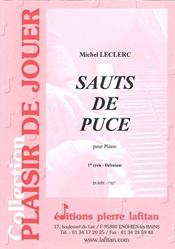 LAFITAN LECLERC MICHEL - SAUTS DE PUCE - PIANO Klassische Noten Klavier