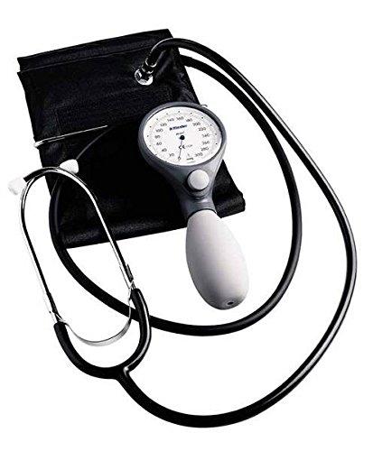Riester 1443-141 ri-san Blutdruckmessgerät mit Stethoskop, Bügel-Klettenmanschette, Erwachsene, Blau