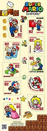 Super Mario 2017 Japanese Postage Stamps Sheet