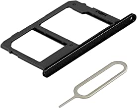 MMOBIEL SIM/SD Card Tray Slot Compatible with LG Q Stylo 4 (6.2 inch) 2018 (Black) incl Sim pin