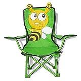Elnsivo Kids Camping Chair Outdoor FoldingBeach Chair for Boys Girls Lawn Camp Chair, Little Bee - Green