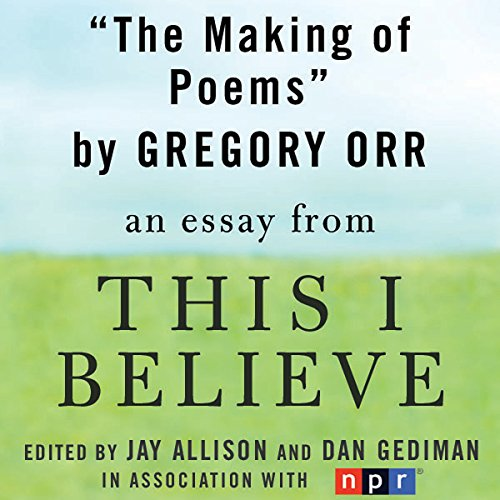 The Making of Poems audiobook cover art