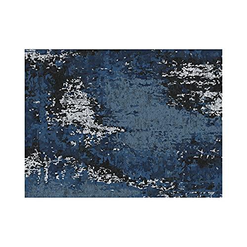 contento Mantel Individual de Vinilo, 30 x 40 cm, Color Azul y Gris