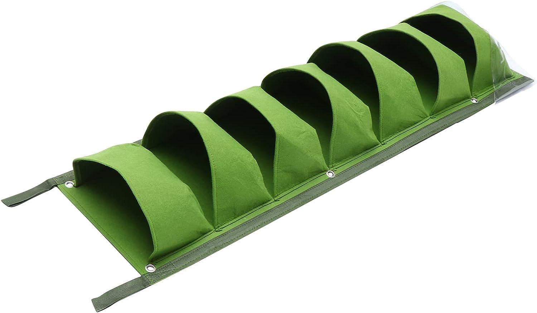 Hemoton Industry No. 1 Vertical Hanging Free Shipping Cheap Bargain Gift Planter with Verti Felt Fabric Pocket 7