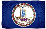 FlagSource Virginia Nylon State Flag, Made in the USA, 3x5