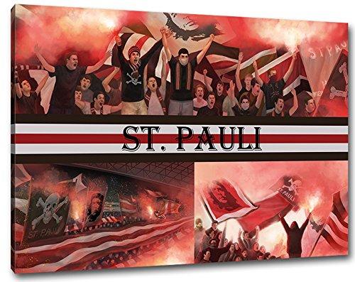 Ultras St. Pauli, Bild auf Leinwand XL, fertig gerahmt, 80 x 60 cm