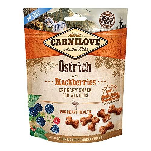 Crunchy Snack Carnilove Autruche & Mûres Chien 200 g