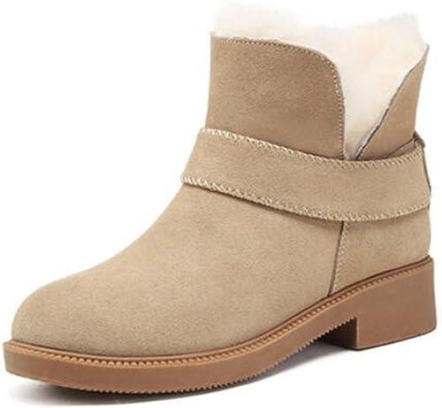 TT&XUEDIXUE Bottes de neige femme   plus des chaussures d'hiver en cachemire   tube court plus des chaussures en coton cachemire   noir   couleur sable , sand Couleur , 38