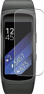 Vaxson 3-pack skärmskydd, kompatibel med Samsung Gear Fit 2 smartwatch smart watch, TPU Guard filmskydd klistermärke [INTE...