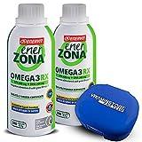 Enerzona Omega 3 RX 2 paquetes de 240 pastillas y pastillero ● Suplemento alimenticio a base de aceite de pescado para el control de los triglicéridos ● Rico en EPA y DHA