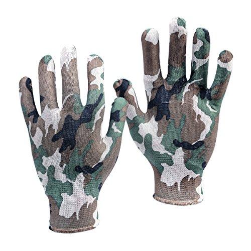 1 Paar Gartenhandschuhe Arbeitshandschuhe Paintball Tarnfarbe Camouflage Handschuhe