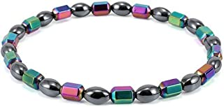 Magnetic Therapy Anklet Beads Foot Chain Healthy Weight Loss Ankle Bracelet - Black