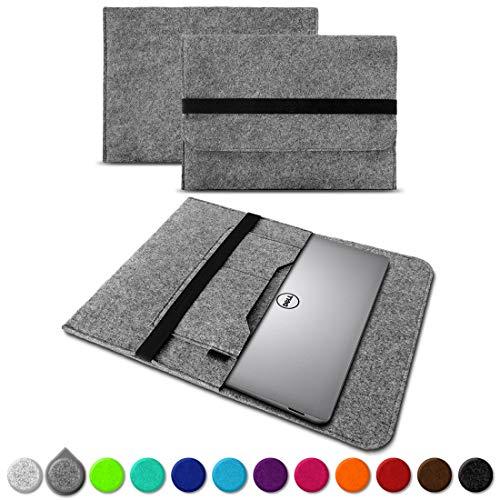 UC-Express Sleeve Hülle für Dell XPS 13 9380 9370 9360 9365 Tasche Filz Notebook Cover Laptop Hülle 13,3 Zoll Schutzhülle, Farben:Grau