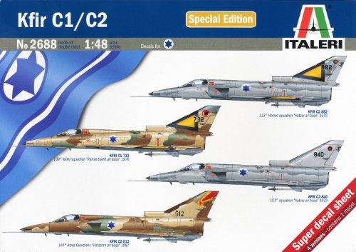 タミヤ イタレリ 1/48 飛行機シリーズ 2688 イスラエル軍 クフィール C1/C2 38688 プラモデル