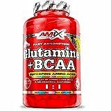 AMIX - Bcaa Glutamina - 360 Cápsulas - Complemento Alimenticio de Bcaa en Cápsulas - Reduce el Catabolismo Muscular - Ideal para Deportistas - Sabor Frutas del Bosque - Aminoácidos Ramificados