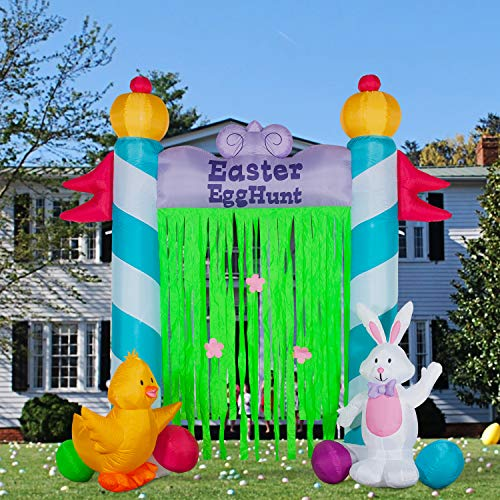 YIHONG 9Ft Easter Inflatables Archway Decorations