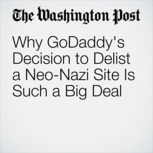 Why GoDaddy's Decision to Delist a Neo-Nazi Site Is Such a Big Deal copertina
