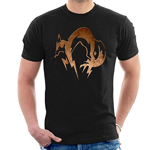 Foxhound Symbol Dirty Brass Metal Gear Solid Men's T-Shirt