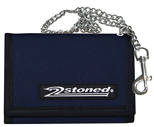 2stoned Ketten-Geldbörse Wallet mit Label Speed in Navy Blau für Erwachsene und Kinder